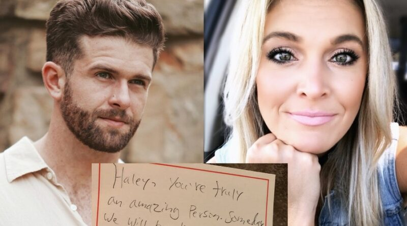 Read the Love Letter Jed Wyatt Wrote His Girlfriend Right Before The Bachelorette